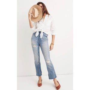 Madewell Rigid Demi Boot Crop Jeans